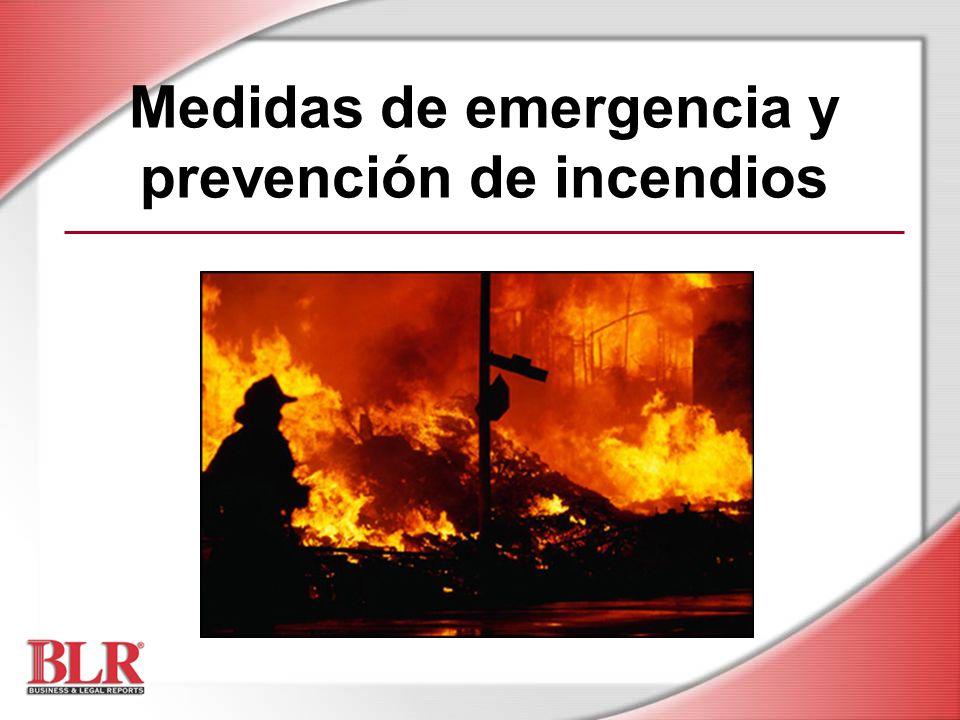 Medidas de emergencia y prevención de incendios