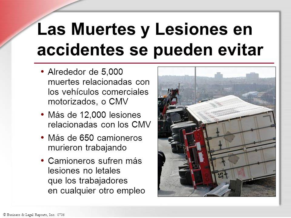 © Business & Legal Reports, Inc. 0706 Las Muertes y Lesiones en accidentes se pueden evitar Alrededor de 5,000 muertes relacionadas con los vehículos