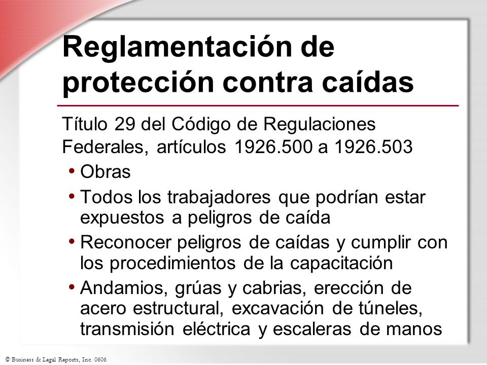 © Business & Legal Reports, Inc.0606 ¿Preguntas.