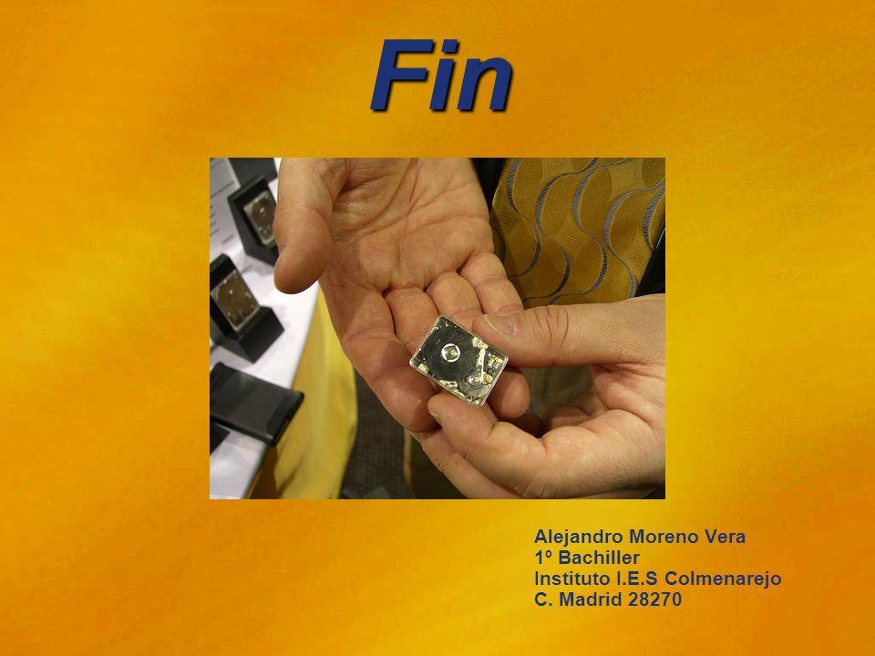 Fin Alejandro Moreno Vera 1º Bachiller Instituto I.E.S Colmenarejo C. Madrid 28270