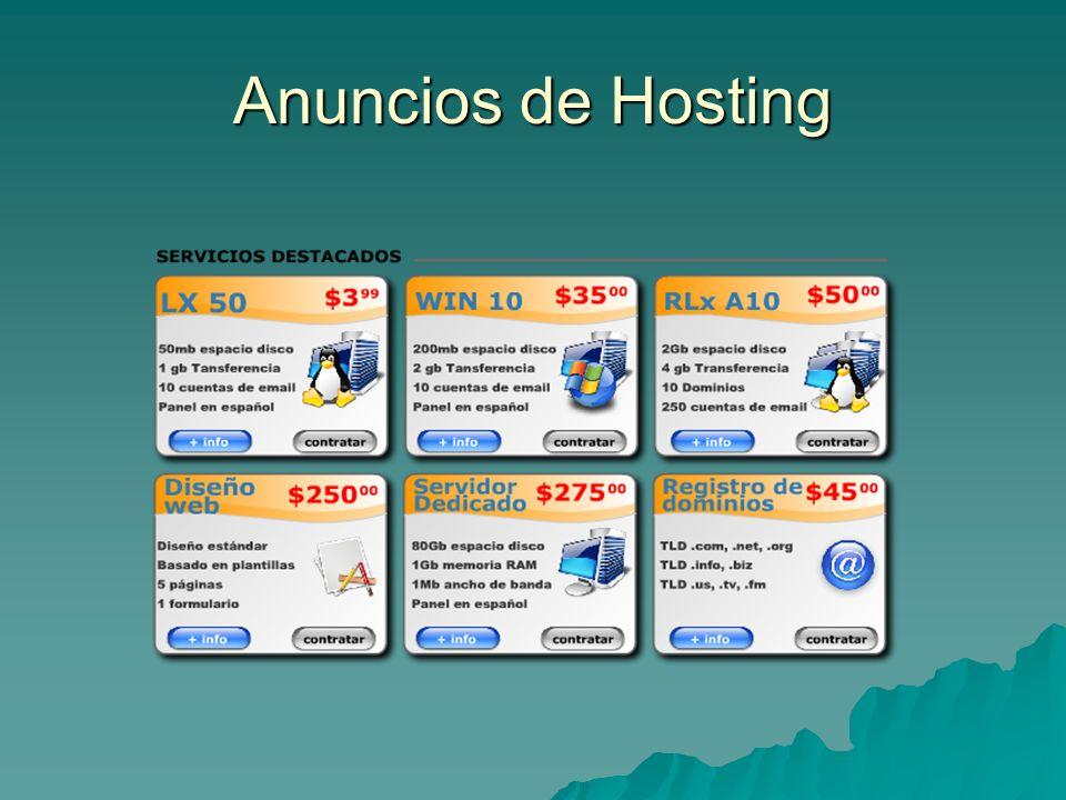 Formas de obtener un Hosting Se distingue entre servicios pagados y servicios gratuitos.