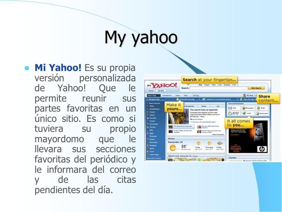 Yahoo! Traductor Es el traductor que tiene actualmente Yahoo