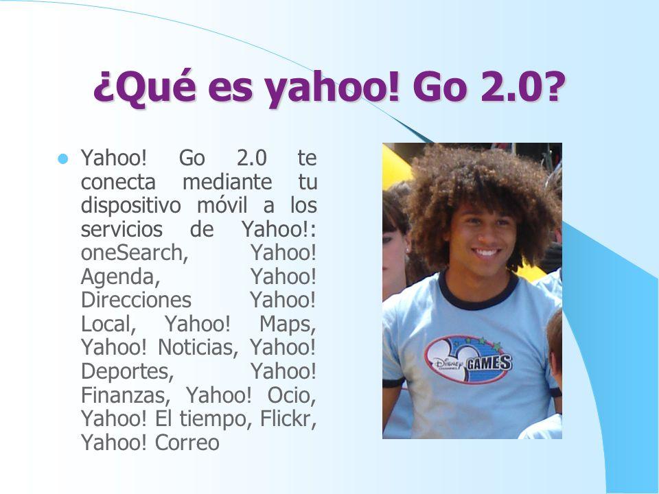 Yahoo Flickr Flickr una aplicación en línea a la que puedes acceder mediante Yahoo! Go 2.0. A través de Yahoo! Go 2.0, Flickr te permite navegar, busc