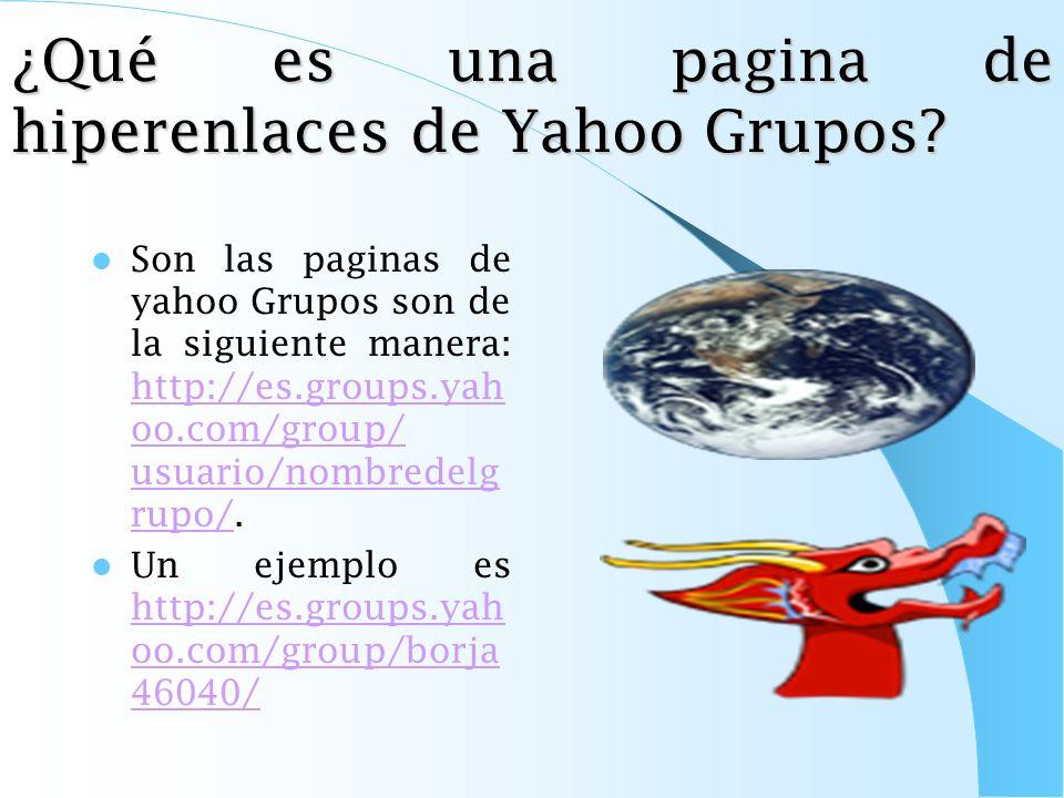 ¿Qué Es Una Pagina De Hiperenlaces de Geocities? Son las paginas de geocities son de la siguiente manera http://es.geocitie s.com/usuario/no mbredelap