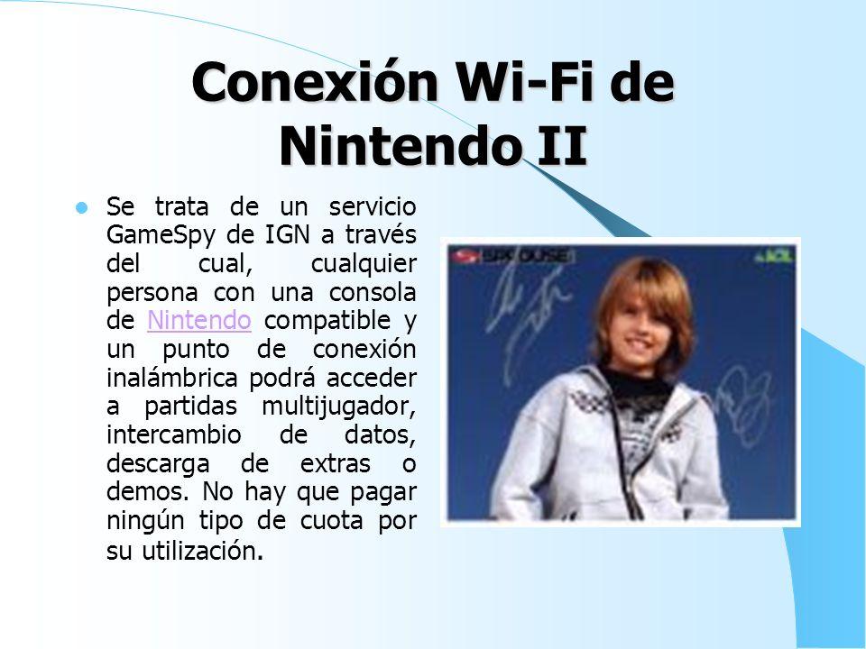 Conexión Wi-Fi de Nintendo I Es el nombre de la conexión inalámbrica gratuita a Internet que Nintendo ofrece a los usuarios tanto de Nintendo DS y Wii