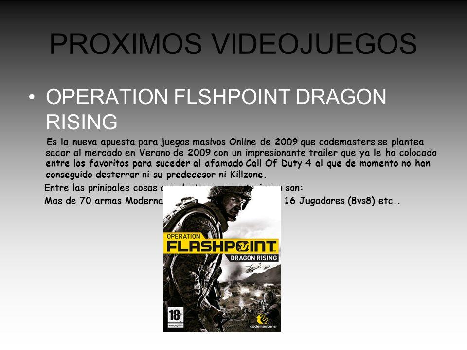 PROXIMOS VIDEOJUEGOS OPERATION FLSHPOINT DRAGON RISING Es la nueva apuesta para juegos masivos Online de 2009 que codemasters se plantea sacar al merc
