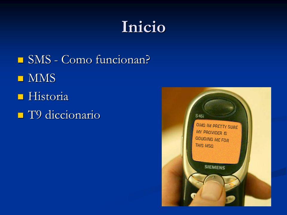 Inicio SMS - Como funcionan. SMS - Como funcionan.