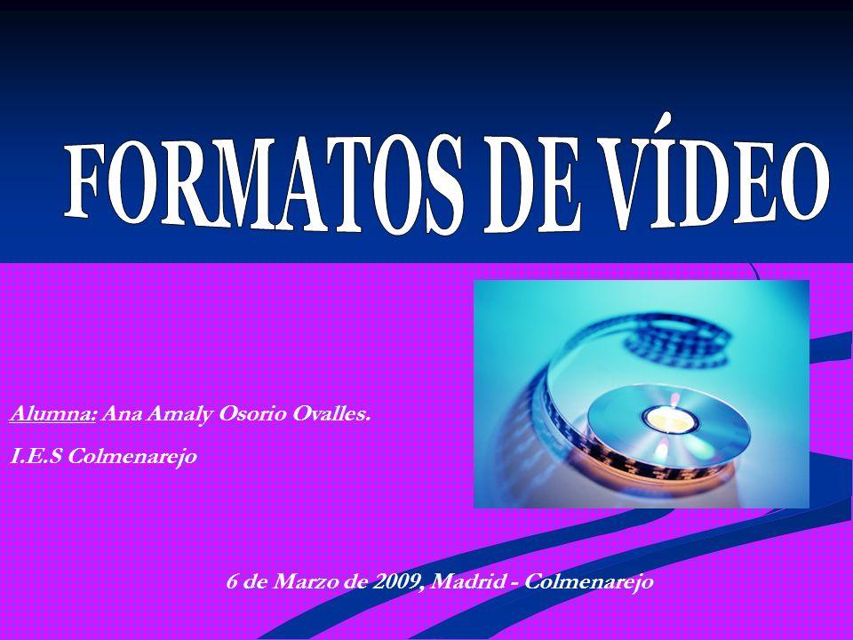 FORMATOS DE FICHERO.FORMATOS DE VÍDEO. ARCHIVOS DE VÍDEO.