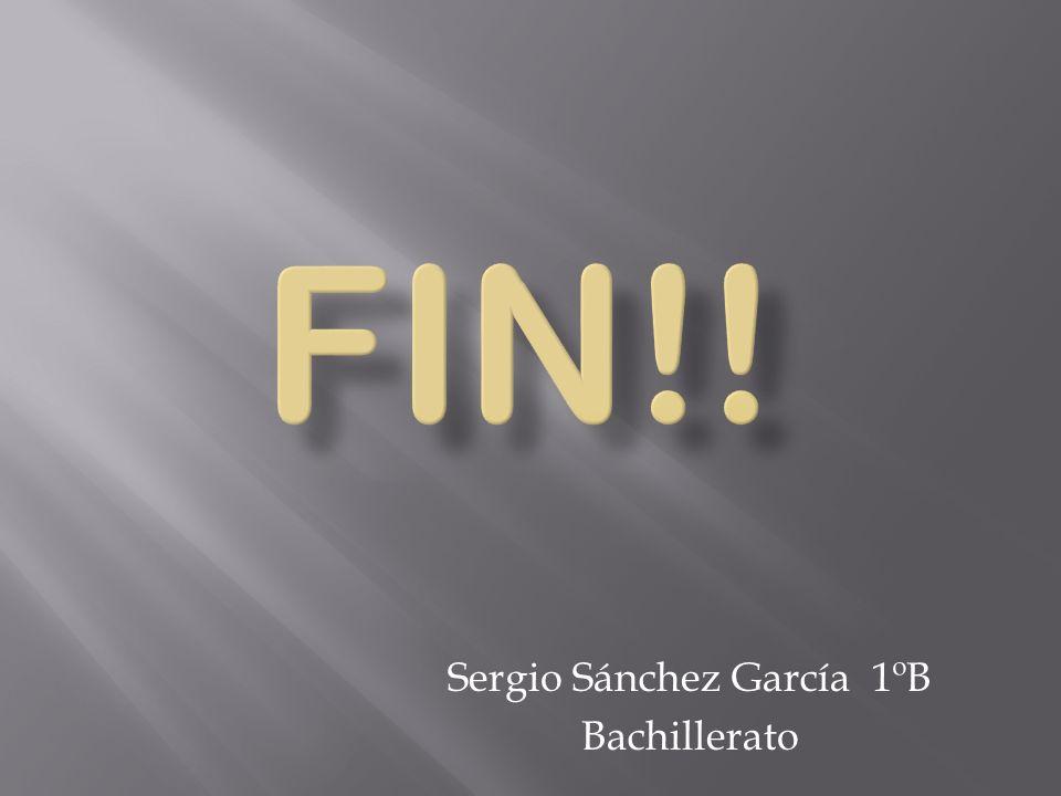 Sergio Sánchez García 1ºB Bachillerato