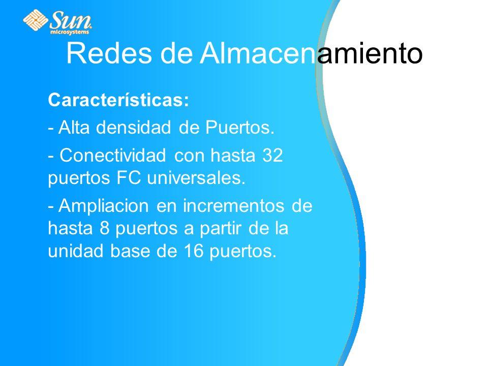 Características: - Alta densidad de Puertos. - Conectividad con hasta 32 puertos FC universales.