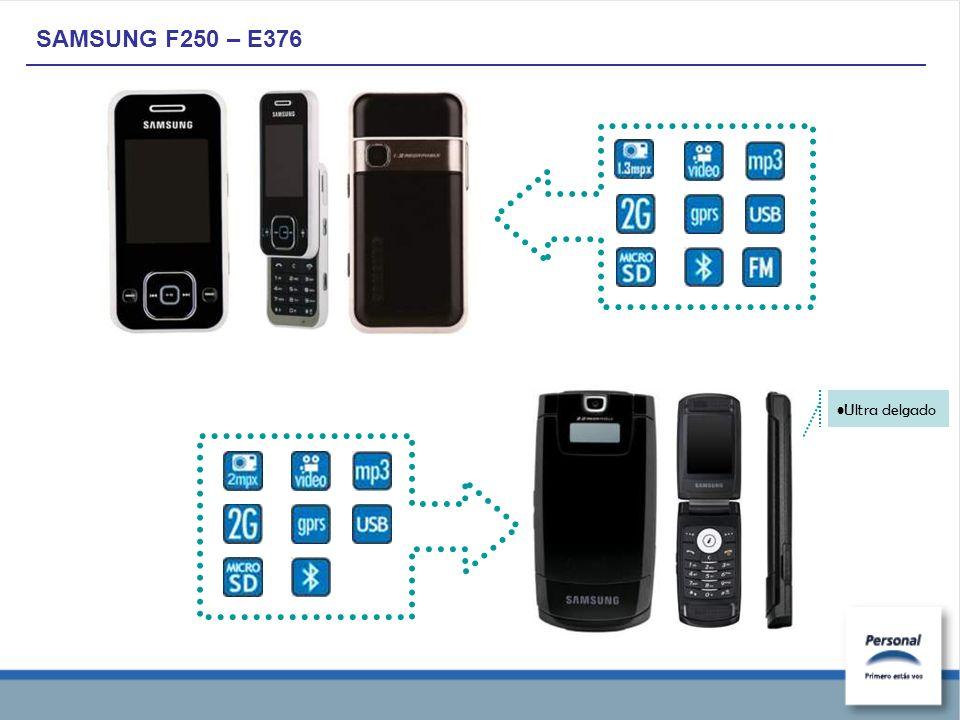 SAMSUNG F250 – E376 Ultra delgado