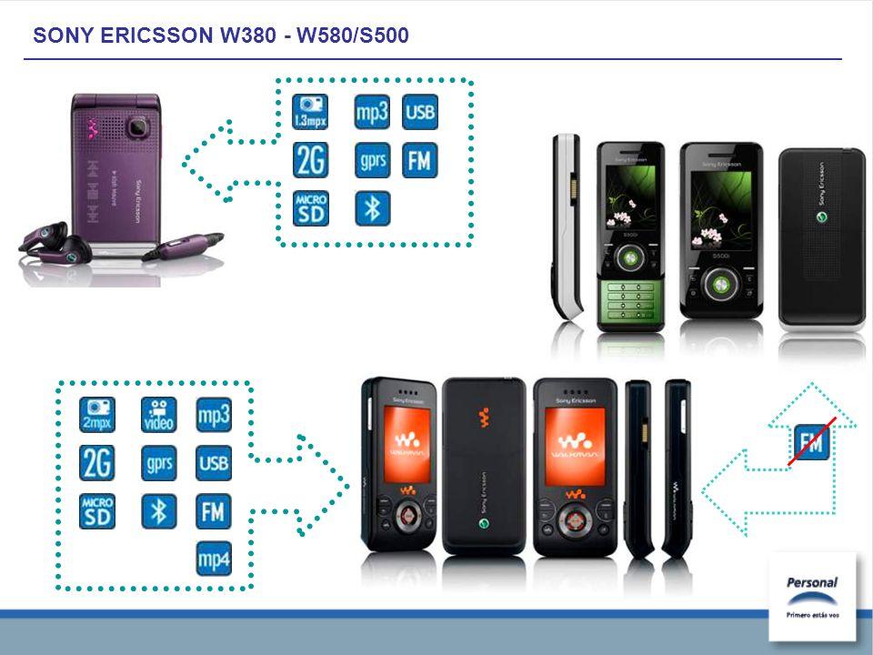 SONY ERICSSON W380 - W580/S500