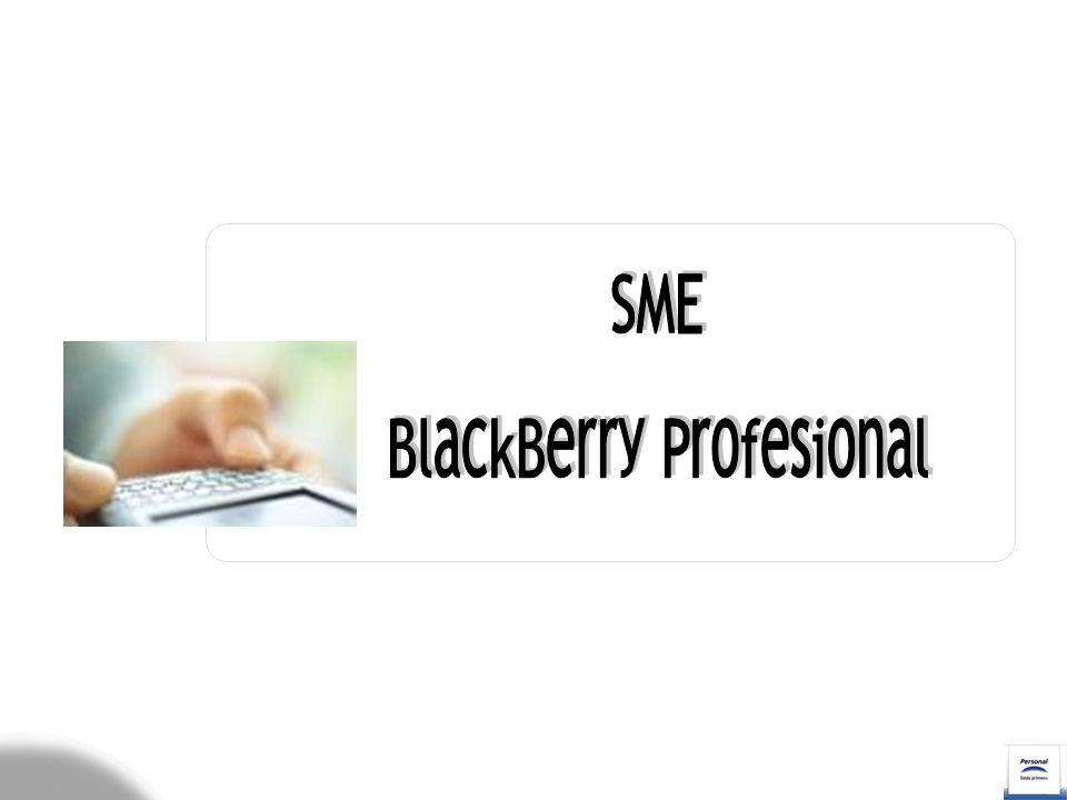 Características Configuración de correo electrónico - Cuenta BIS Comparativa BES (BB Corporativo) – BIS (BB Profesional) Proceso de Activación Verificaciones Tasación Personal BlackBerry Modelos de terminales de mano Oferta Comercial
