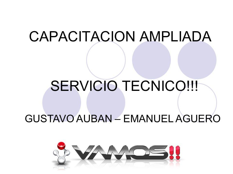 CAPACITACION AMPLIADA SERVICIO TECNICO!!! GUSTAVO AUBAN – EMANUEL AGUERO