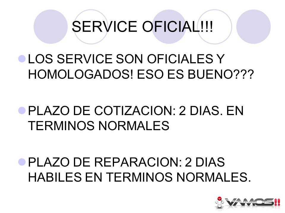 SERVICE OFICIAL!!. LOS SERVICE SON OFICIALES Y HOMOLOGADOS.