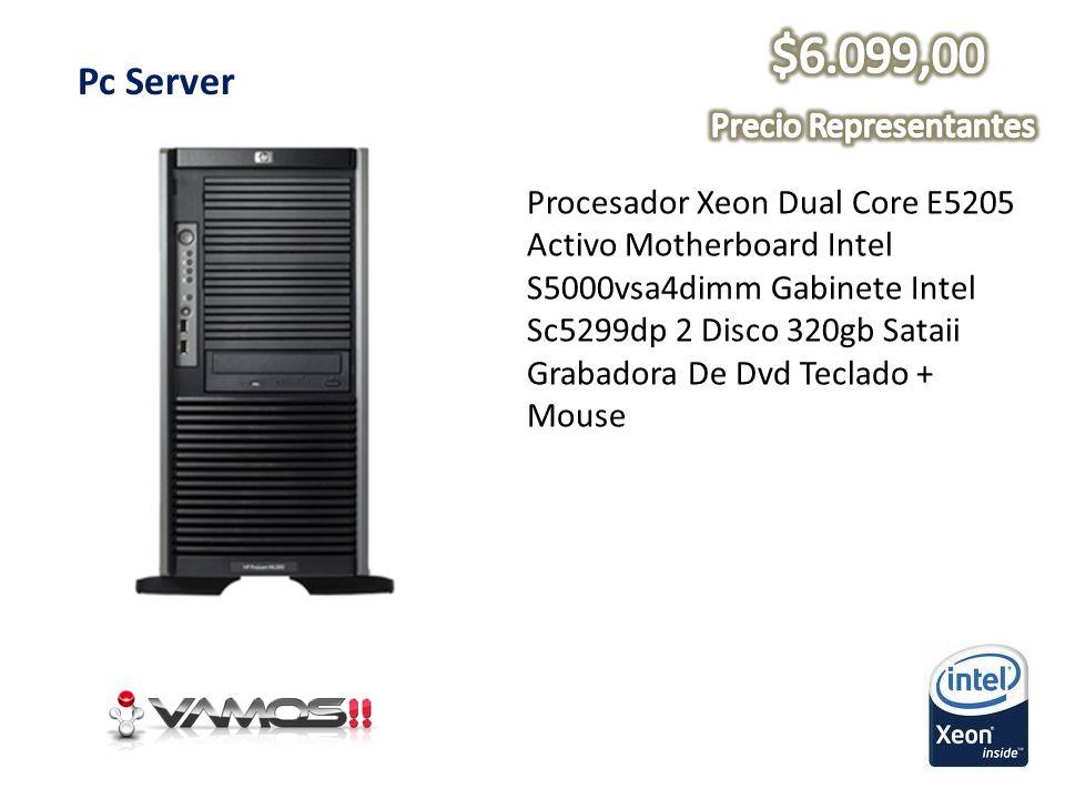 Pc Server Procesador Xeon Dual Core E5205 Activo Motherboard Intel S5000vsa4dimm Gabinete Intel Sc5299dp 2 Disco 320gb Sataii Grabadora De Dvd Teclado