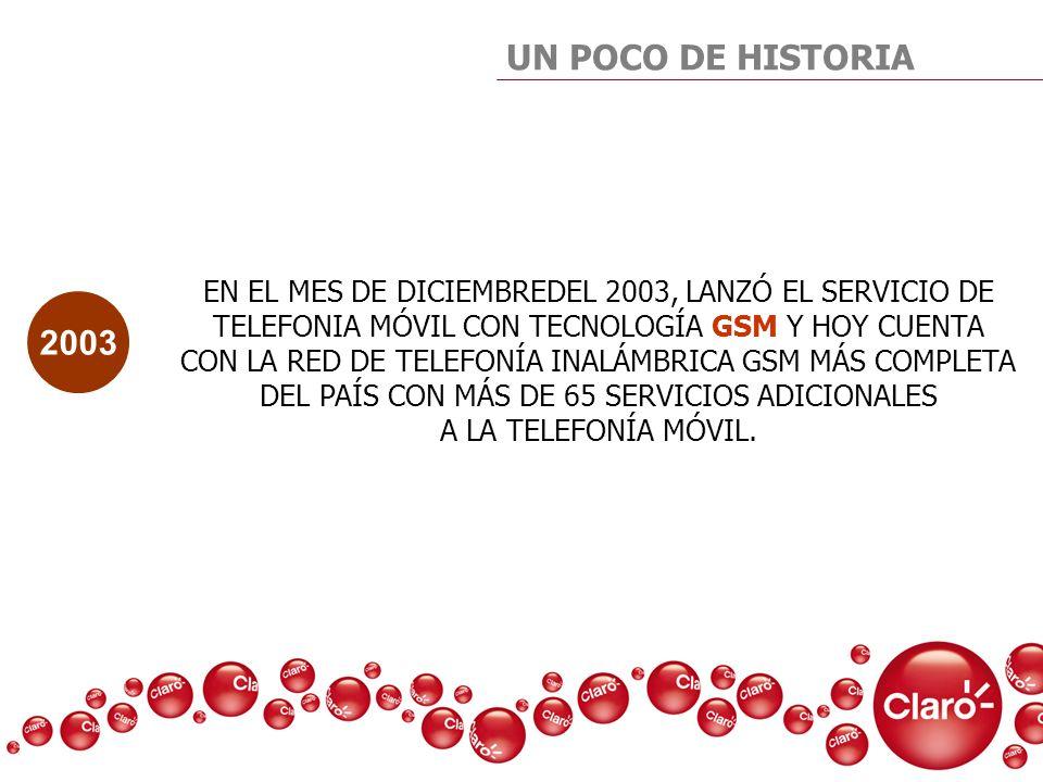 UN POCO DE HISTORIA EN EL MES DE DICIEMBREDEL 2003, LANZÓ EL SERVICIO DE TELEFONIA MÓVIL CON TECNOLOGÍA GSM Y HOY CUENTA CON LA RED DE TELEFONÍA INALÁ