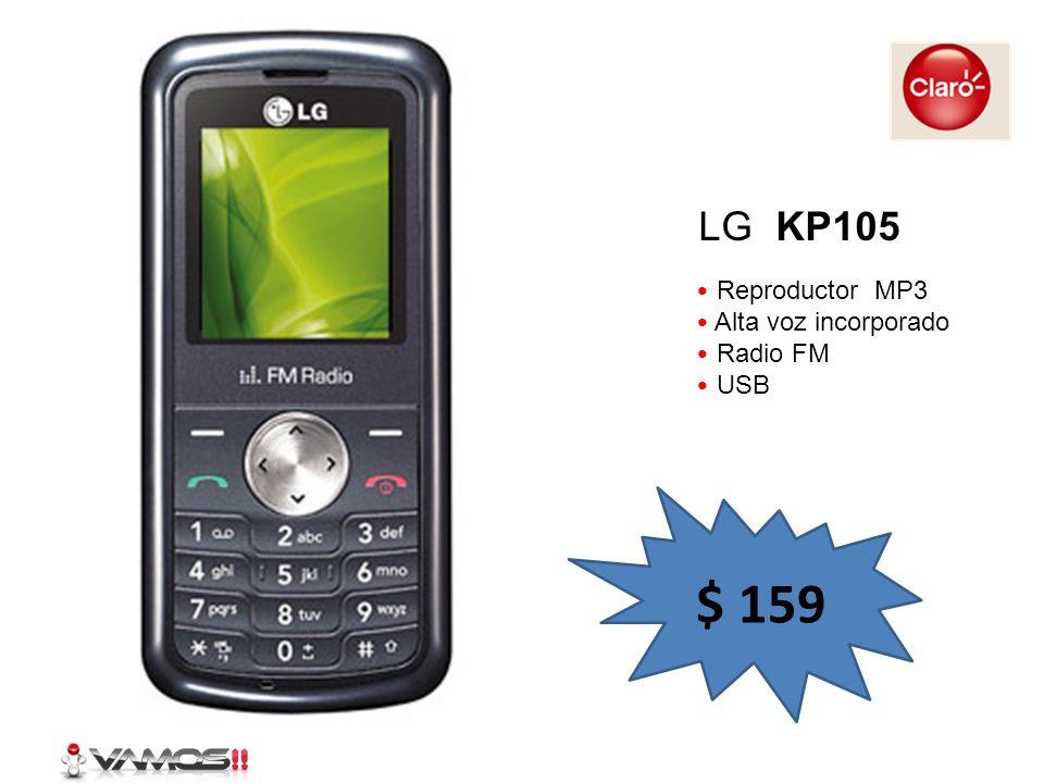 Reproductor MP3 Alta voz incorporado Radio FM USB LG KP105 $ 159