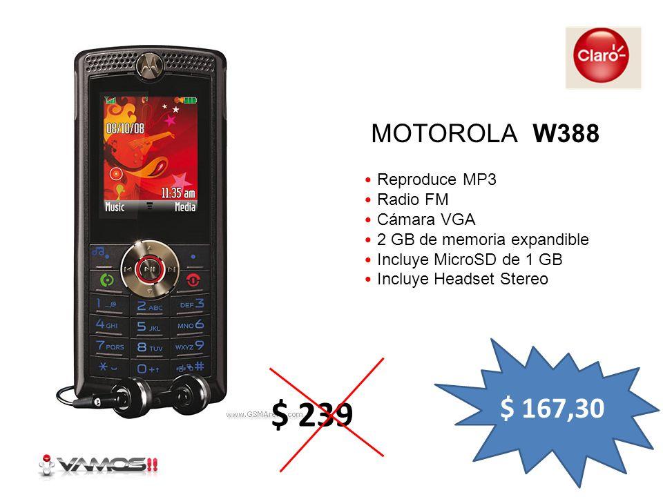 Cámara de 2 Mpx Reproductor de audio y video Radio FM Reproduce MP3 Bluetooth SONY ERICSSON W302 $ 259,35 $ 399