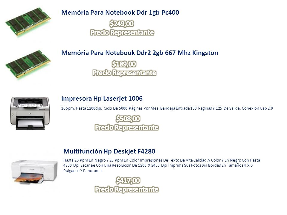 Memória Para Notebook Ddr 1gb Pc400 Memória Para Notebook Ddr2 2gb 667 Mhz Kingston Impresora Hp Laserjet 1006 16ppm, Hasta 1200dpi, Ciclo De 5000 Pág