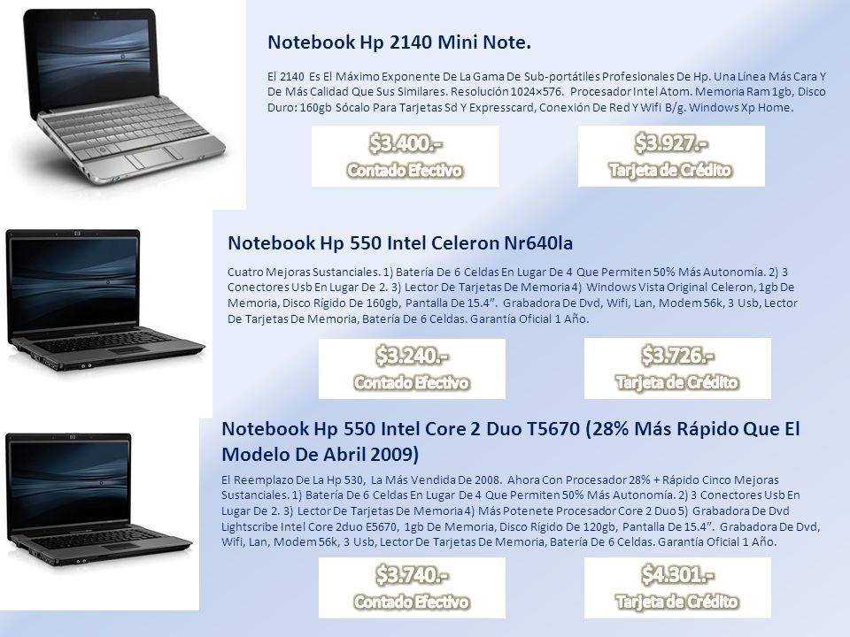 Notebook Hp Presario Cq40 305 Procesador Intel Pentium Dual-core T4200 Memoria Ram 2 Gb, Disco Rígido 160 Gb, Lector De Tarjeta De Memoria 5 En 1, Grabadora Lightscribe Supermulti 8x Dvd±rw Con Soporte De Doble Capa, 3 Puerto Usb 2.0, Módem 56k, Placa De Red (preparada Internet Banda Ancha), Wi-fi (preparada Internet Inalámbrica).