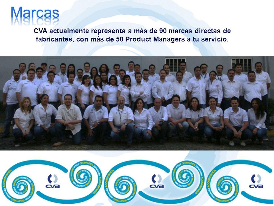 CVA actualmente representa a más de 90 marcas directas de fabricantes, con más de 50 Product Managers a tu servicio.