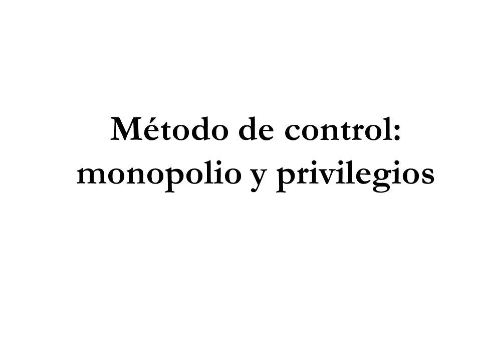 Método de control: monopolio y privilegios