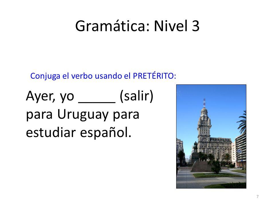 8 Cultura: Nivel 3 San Martín es el héroe nacional de _____.