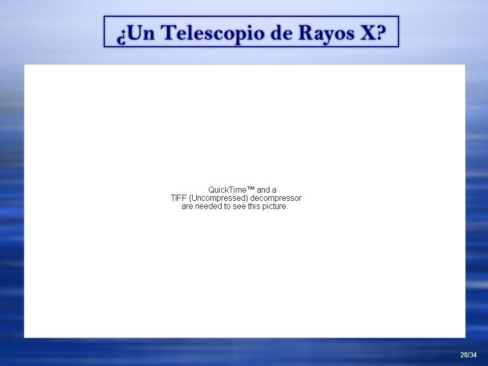 ¿Un Telescopio de Rayos X 28/34