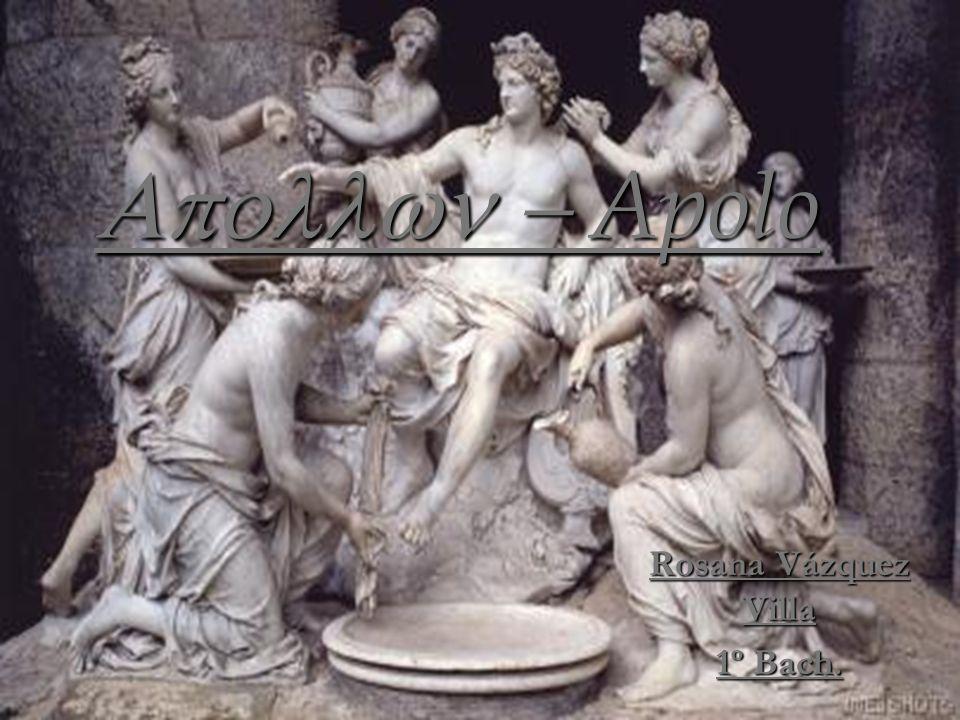 Apolo en el arte Apolo era representado por una piedra cónica o redonda en los primeros tiempos.