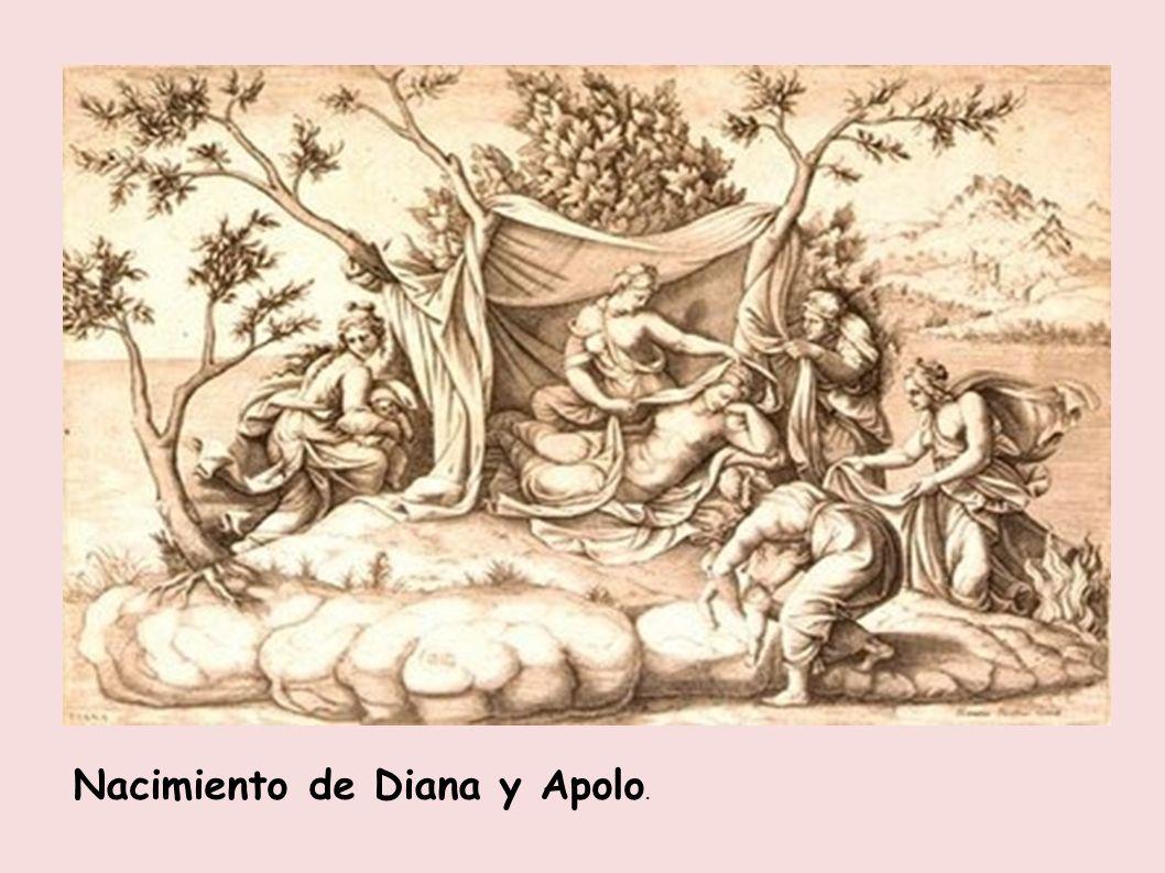 Nacimiento de Diana y Apolo.