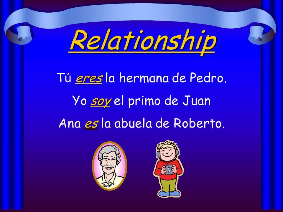 Origin es Cecilia es de Honduras. es El libro es de Guatemala. son Mis primos son de Buenos Aires.