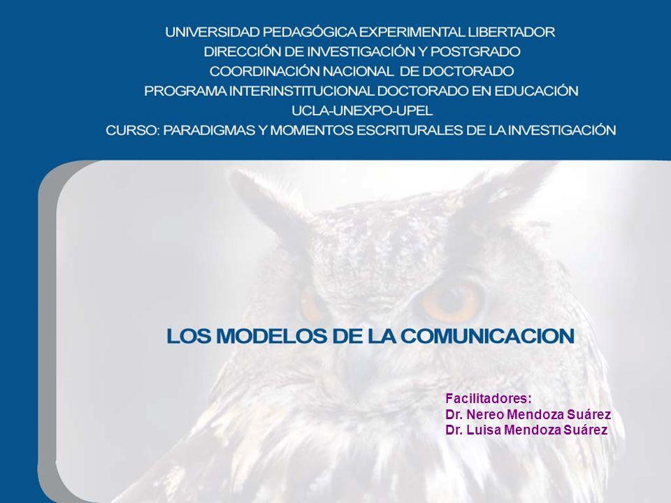 Facilitadores: Dr. Nereo Mendoza Suárez Dr. Luisa Mendoza Suárez