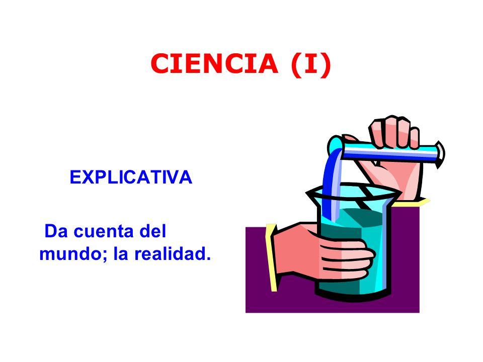 CIENCIA (II) LEGAL Establece regularidades, generalizaciones, leyes, principios, teorías que rigen al Universo.