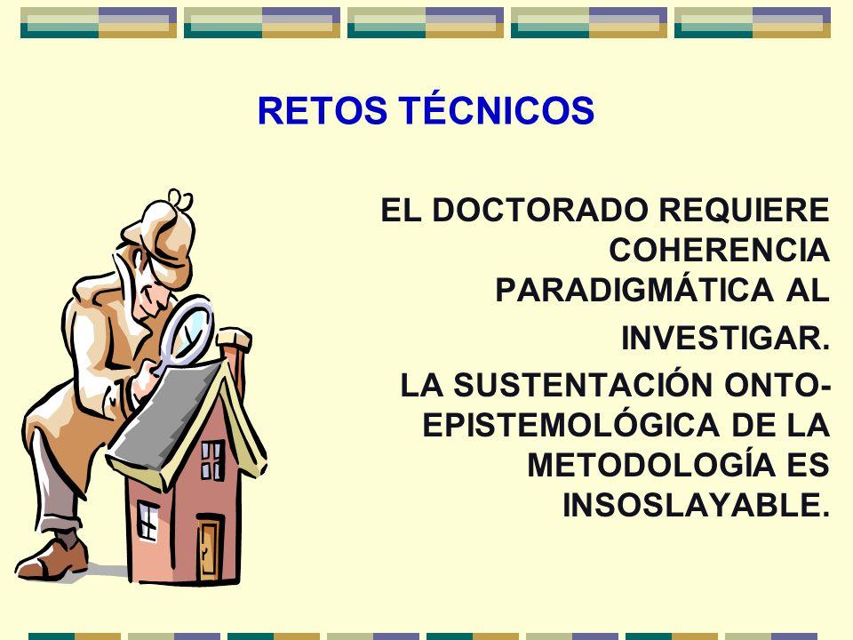 RETOS EN OBJETIVOS Y VALORES EL DOCTORANDO VIVE EN UN COLECTIVO QUE LE OFRECE ESPACIOS Y LE FORMULA DEMANDAS DE PERTINENCIA SOCIAL DE SU TESIS.
