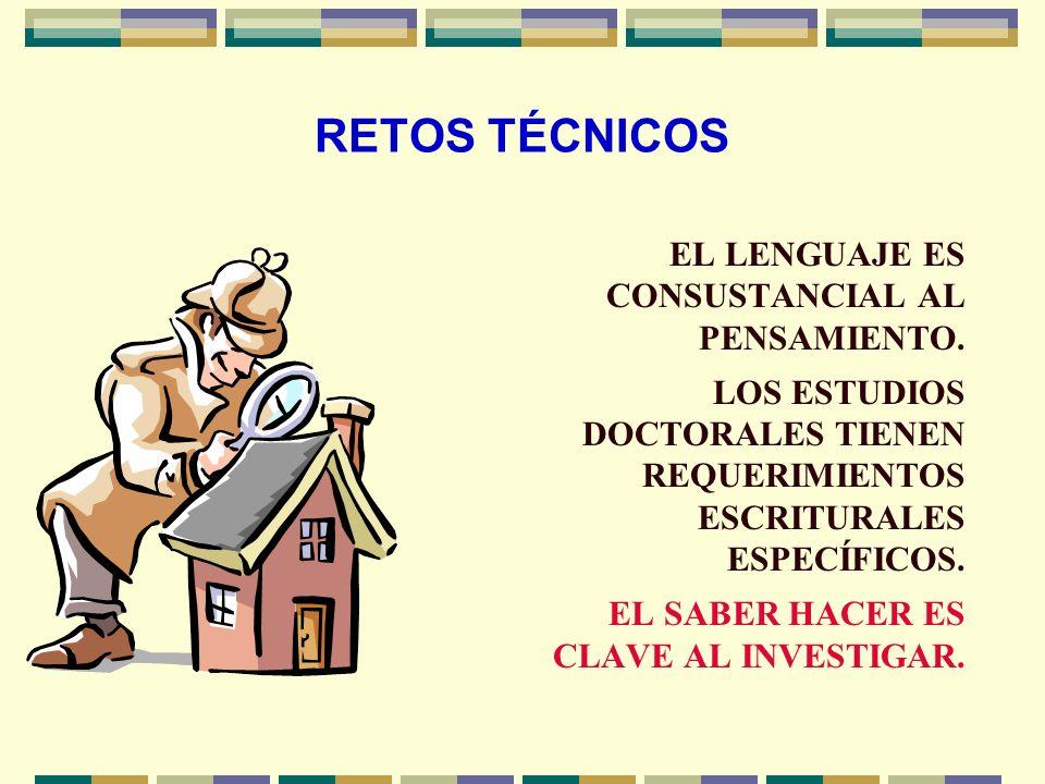 RETOS TÉCNICOS EL DOCTORADO REQUIERE COHERENCIA PARADIGMÁTICA AL INVESTIGAR. LA SUSTENTACIÓN ONTO- EPISTEMOLÓGICA DE LA METODOLOGÍA ES INSOSLAYABLE.