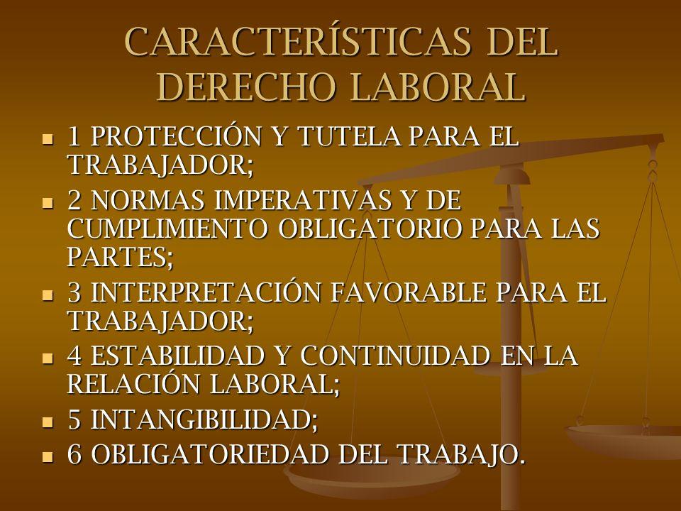 CARACTERÍSTICAS DEL DERECHO LABORAL 1 PROTECCIÓN Y TUTELA PARA EL TRABAJADOR.- 1 PROTECCIÓN Y TUTELA PARA EL TRABAJADOR.- Principios de equidad, protección en el trabajo como un derecho y deber social.