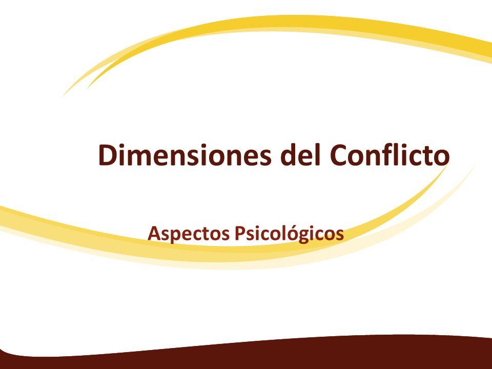 Dimensiones del Conflicto Aspectos Psicológicos