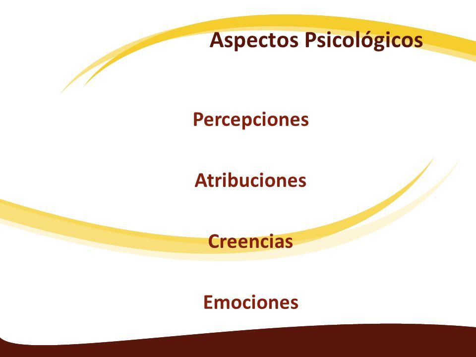 Aspectos Psicológicos Percepciones Atribuciones Creencias Emociones