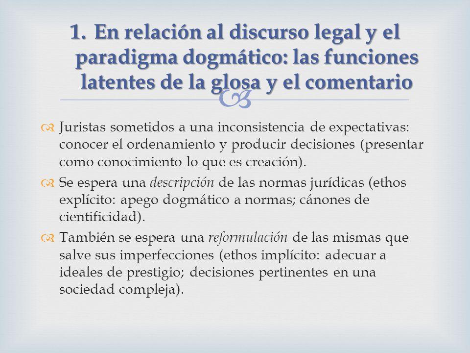 Juristas sometidos a una inconsistencia de expectativas: conocer el ordenamiento y producir decisiones (presentar como conocimiento lo que es creación).