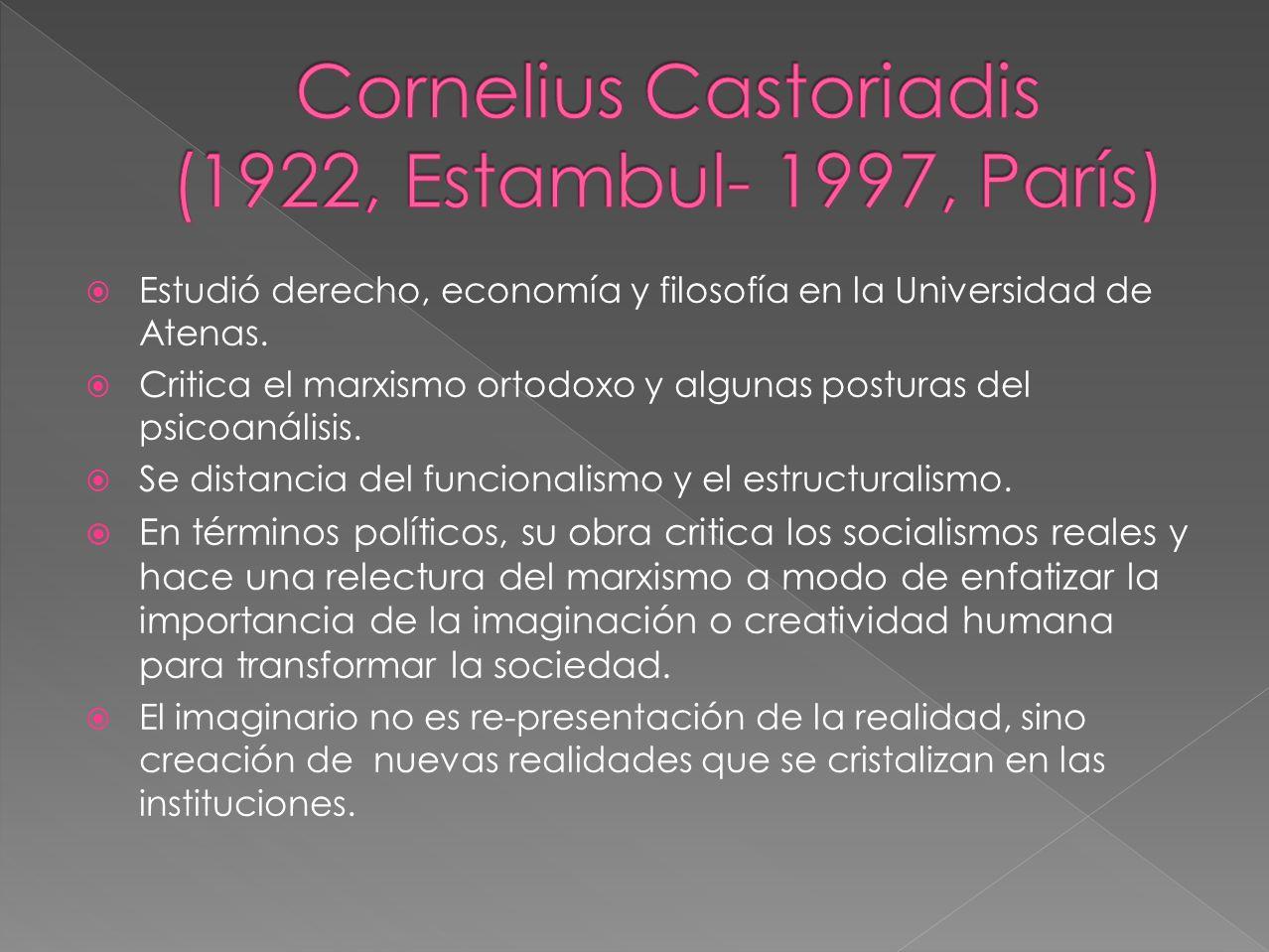 Estudió derecho, economía y filosofía en la Universidad de Atenas.