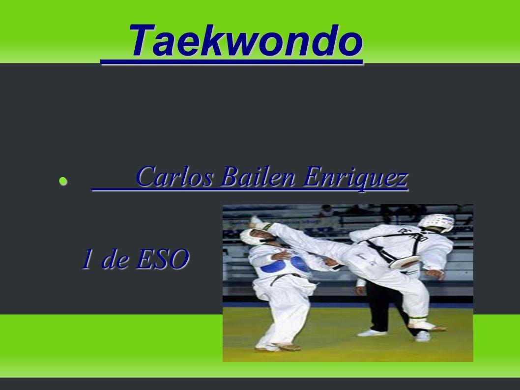 Taekwondo Taekwondo Carlos Bailen Enriquez Carlos Bailen Enriquez 1 de ESO 1 de ESO