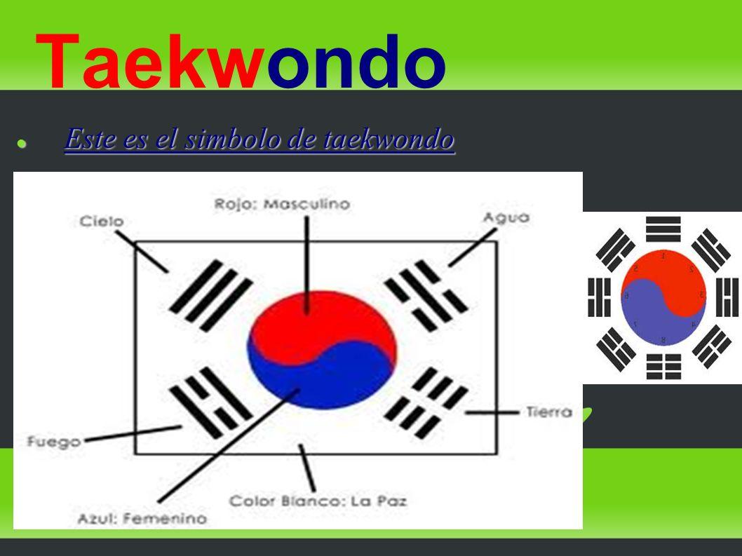 Taekwondo Este es el simbolo de taekwondo Este es el simbolo de taekwondo