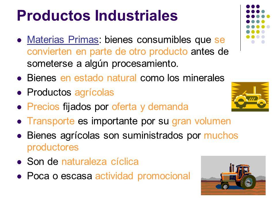 Materias Primas: bienes consumibles que se convierten en parte de otro producto antes de someterse a algún procesamiento. Bienes en estado natural com