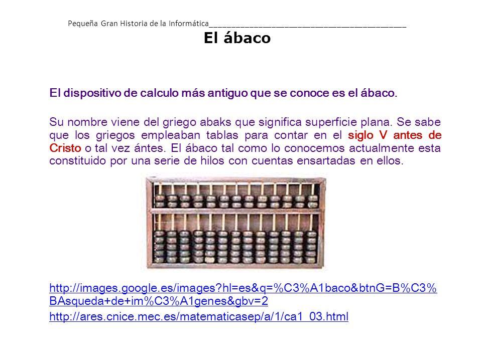 El primer calculador mecánico apareció en 1642.