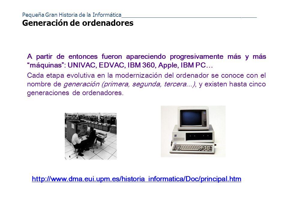 A principios de los 80 aparece la que podría ser la quinta generación de ordenadores.