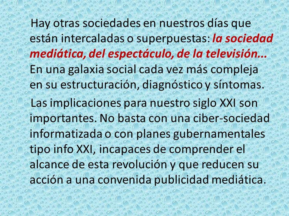 Actualmente la irrupción y desarrollo de las nuevas tecnologías están conformando una serie de cambios estructurales, a nivel económico, laboral, social, educativo, político, de relaciones.