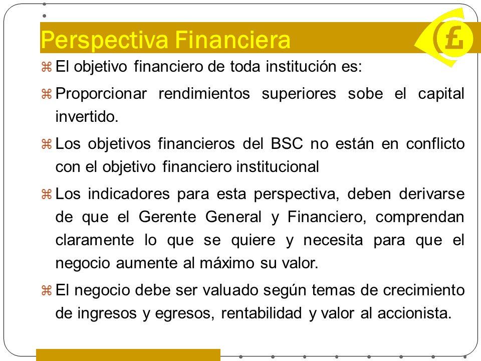 Perspectiva Financiera El objetivo financiero de toda institución es: Proporcionar rendimientos superiores sobe el capital invertido. Los objetivos fi