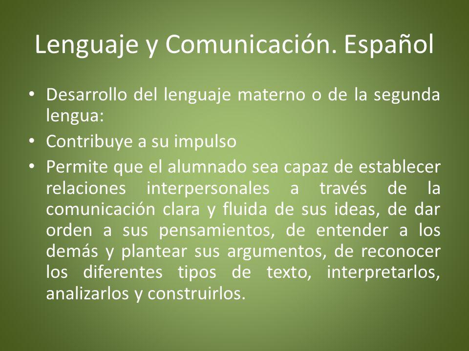 Lenguaje y Comunicación.