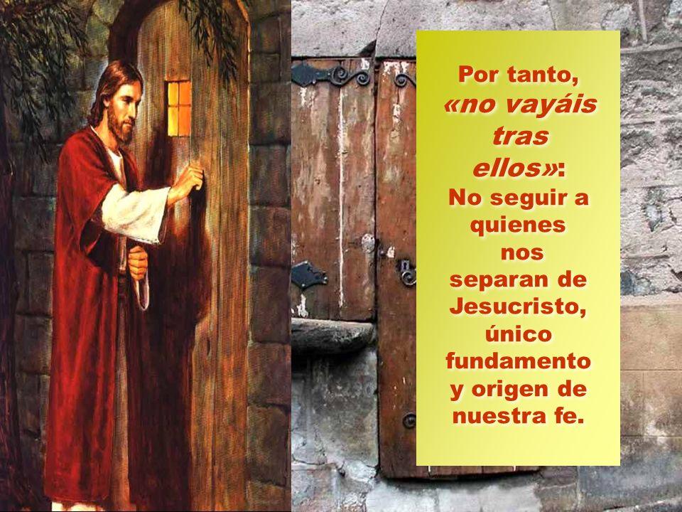 Éstas son las consignas de Jesús. En primer lugar, «que nadie os engañe»: no caer en la ingenuidad de dar crédito a mensajes ajenos al evangelio, ni f